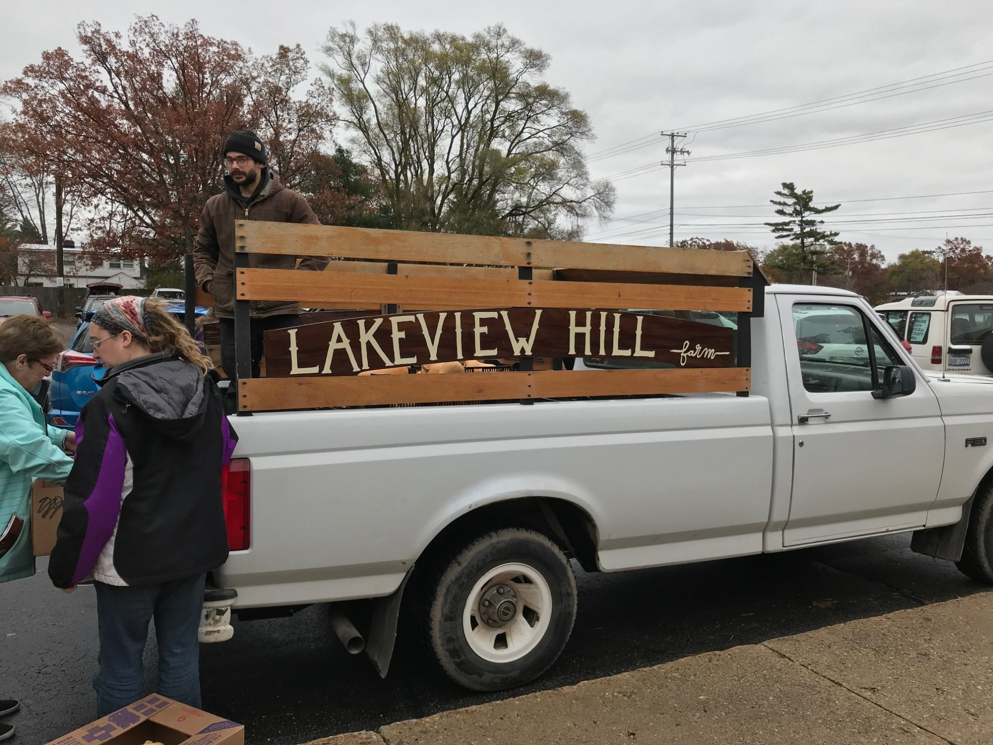 Lakeview Hill Farm to Neighbor Delivery Truck